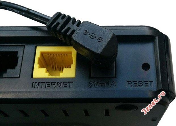 Кнопка RESET для сброса настроек wi-fi роутера
